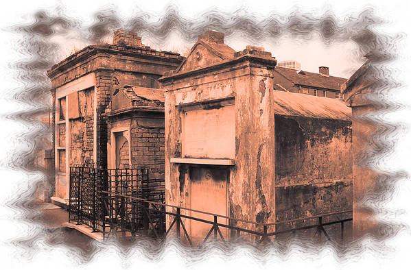 New Orleans Art Print featuring the photograph Cemetary Row by Linda Kish