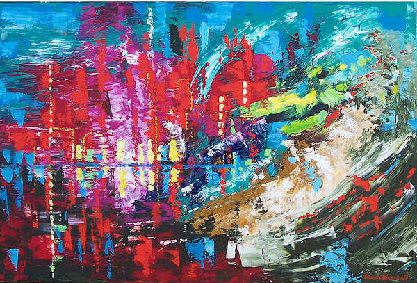 Abstract Art Print featuring the painting City Of Oz by Claude Marshall
