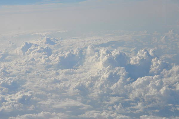 Clouds Art Print featuring the photograph Clouds Like Mountains Of Snow by Bill Cannon