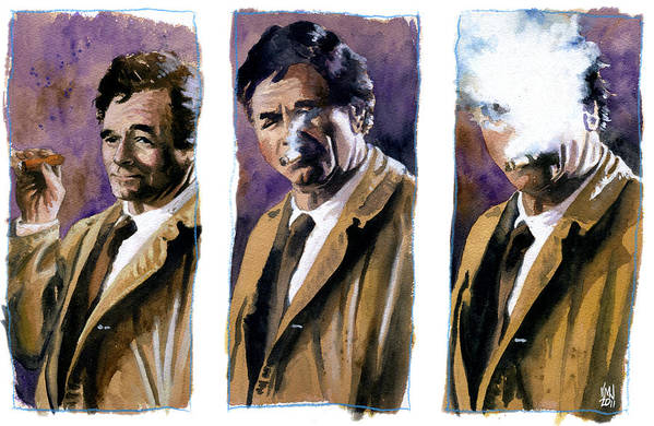 Television Art Print featuring the painting Columbo by Ken Meyer jr