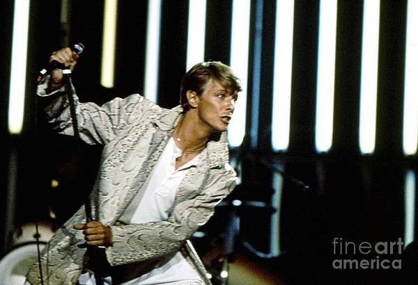 David Bowie Art Print featuring the photograph David Bowie Action Man by Sue Halstenberg