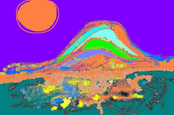 Art Print featuring the digital art Dawn II by Beebe Barksdale-Bruner