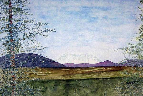 Alaska Art Art Print featuring the painting Denali In July by Larry Wright