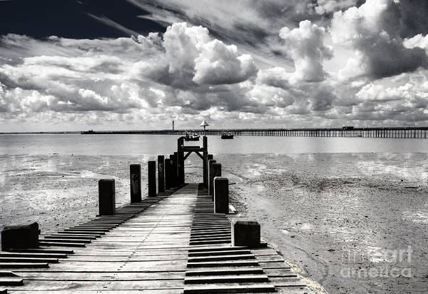 Wharf Southend Essex England Beach Sky Art Print featuring the photograph Derelict Wharf by Sheila Smart Fine Art Photography