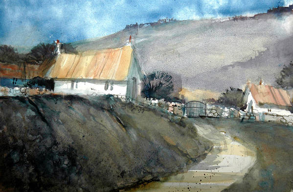 Devon Art Print featuring the painting Devonshire Farm by Charles Rowland