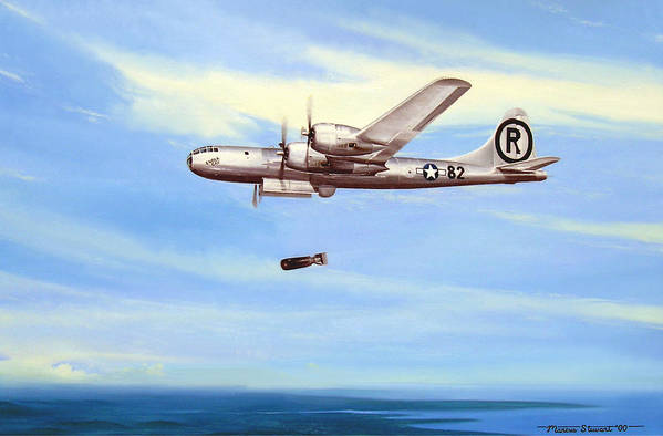 Military Art Print featuring the painting Enola Gay by Marc Stewart