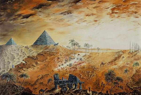 Egypt Art Print featuring the painting Eternity by Richard Barham