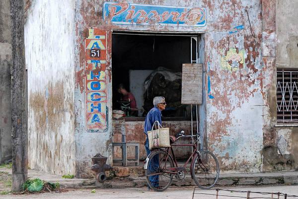 Camaguey; Cuba; Havanna; Habana; Kuba; Pizzeria Art Print featuring the photograph Ex-pizzeria In Camaguey by Marie Schleich