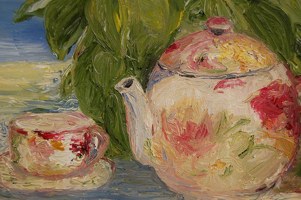 Konkol Art Print featuring the painting French Teapot by Lisa Konkol