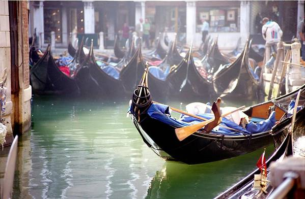 Venice Art Print featuring the photograph Gondola In Venice In The Morning by Michael Henderson