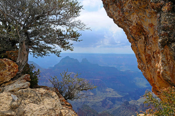 Grand Canyon North Rim Art Print featuring the photograph Grand Canyon North Rim Window in the Rock by Victoria Oldham