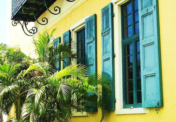 Architecture Art Print featuring the photograph Green Shutters by Debbi Granruth