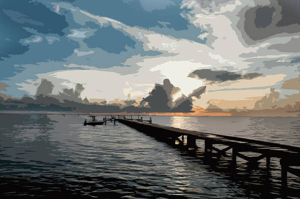 Seascape Art Print featuring the digital art Happy Hour by Norman Johnson