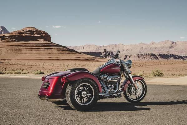 Harley-davidson Freewheeler Art Print featuring the digital art Harley-Davidson Freewheeler by Super Lovely