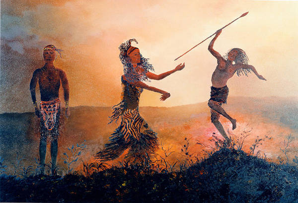 Africa Art Print featuring the painting Home Comeing by Richard Barham