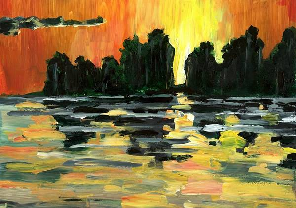 Jungle Art Print featuring the painting Jalisco Jungle River by Randy Sprout