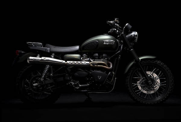 Triumph Art Print featuring the photograph Jurassic Scrambler by Keith May