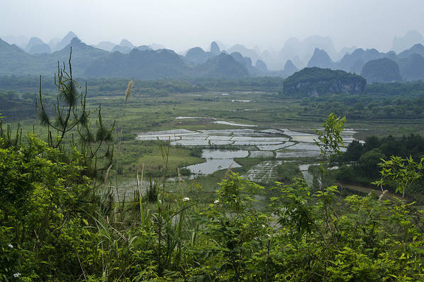 Asia Art Print featuring the photograph Karst Landscape of Guangxi by Michele Burgess