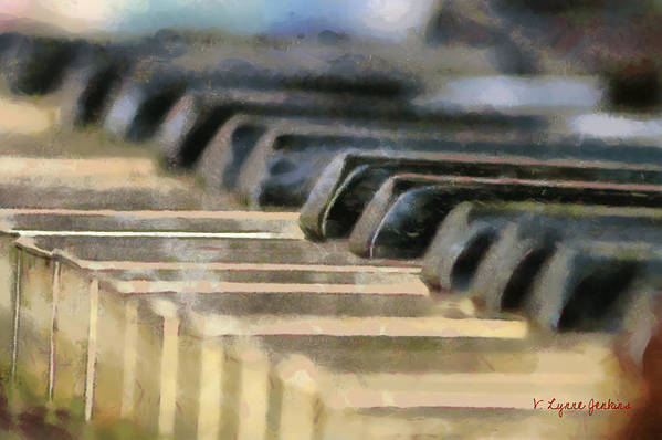 Piano Art Print featuring the painting Keys To My Heart by Lynne Jenkins