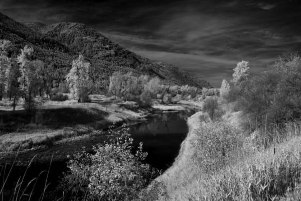 B&w Art Print featuring the photograph Kootenai Wildlife Refuge in Infrared 3 by Lee Santa
