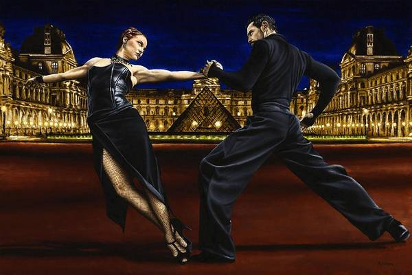 Tango Art Print featuring the painting Last Tango in Paris by Richard Young