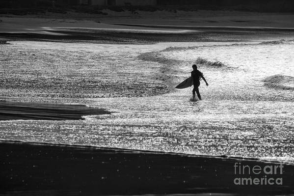 Surfer Art Print featuring the photograph Last wave by Sheila Smart Fine Art Photography