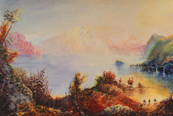 Western Art Print featuring the painting Lewis And Clark by Richard Barham