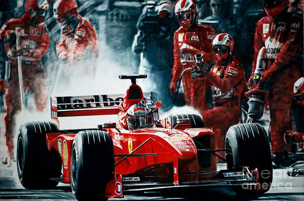 Motorsport Images Michael Schumacher 1997 Ferrari Pit Mens Sweatshirt