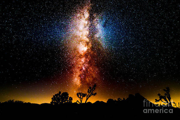 Milky Way Art Print featuring the photograph Milkyway Explosion by Jim DeLillo