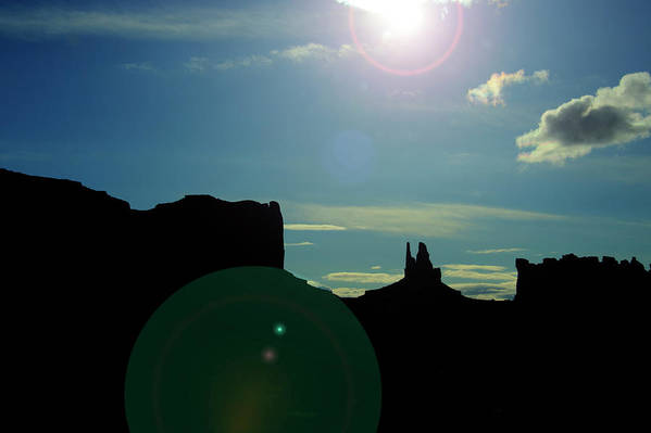 Monument Valley Art Print featuring the photograph Monument Valley silhouette by Roy Nierdieck