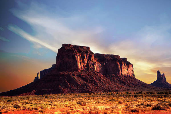 Monument Valley Art Print featuring the photograph Monument Valley sunset by Roy Nierdieck