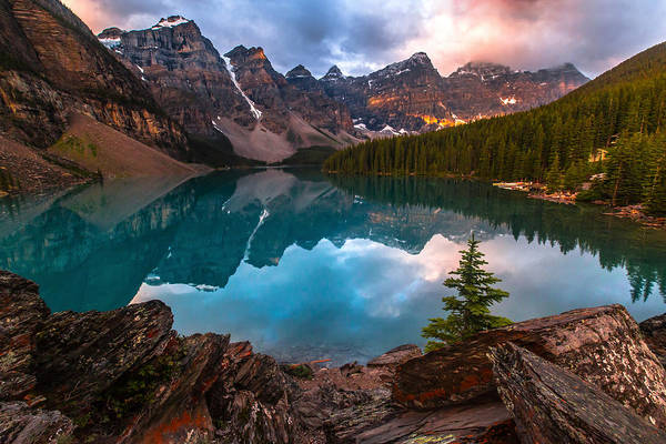 Canada Art Print featuring the photograph Moraine Mornings by Ryan Smith