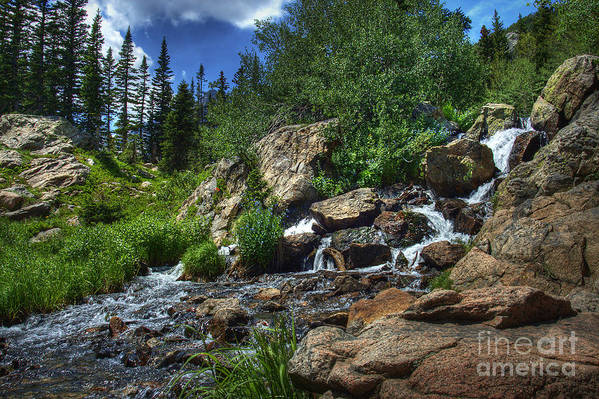 Landscape Art Print featuring the photograph Mountain Stream 3 by Pete Hellmann
