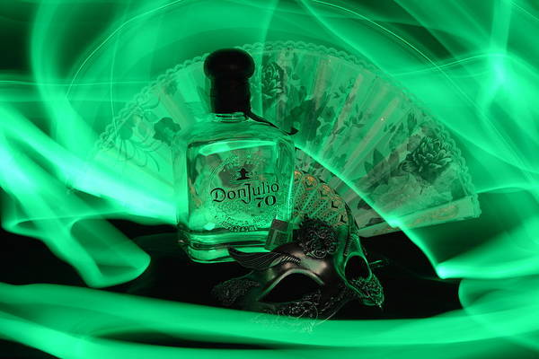 Bottle Art Print featuring the photograph Mystique Green by Paulina Roybal