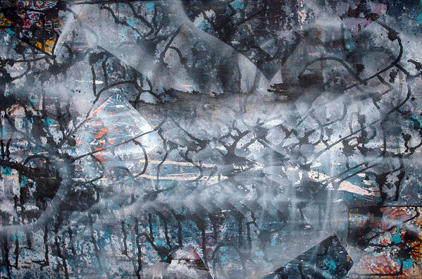 Abstract Art Print featuring the painting Neverwas... by Leigh Odom