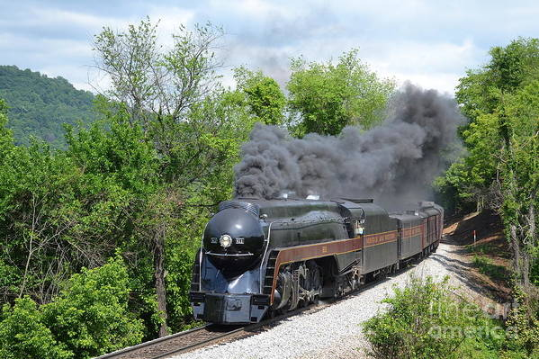 611 Art Print featuring the photograph Norfolk and Western Class J #611 by Steve Gass