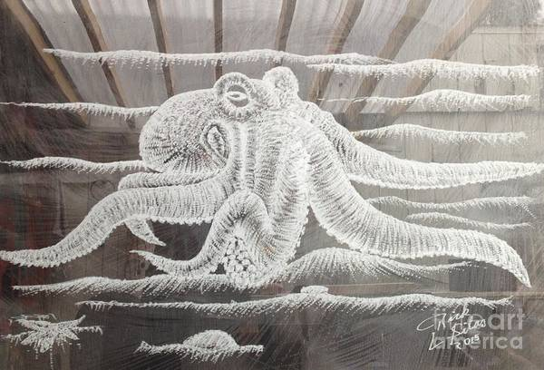 Ocean Art Print featuring the drawing Octupus by Rick Silas