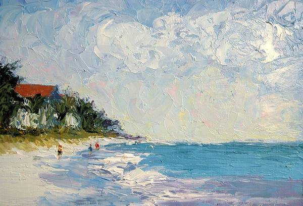 Seascape Art Print featuring the painting On the Beach by Colleen Murphy