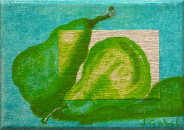 Still Life Art Print featuring the painting Pear Gem 2 by Laura Gabel