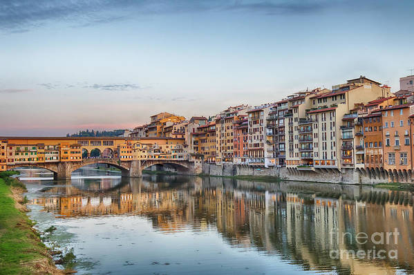 Florence Art Print featuring the photograph Ponte Vecchio by Jennifer Ludlum