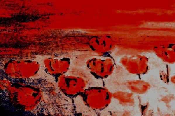 Landscape Art Print featuring the digital art Poppies by Joseph Ferguson