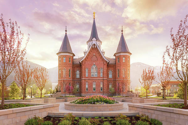 Provo City Center Utah Temple Art Print featuring the photograph Provo City Center Temple Dawn by Tausha Schumann