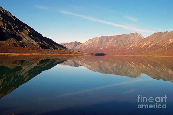 Lake Art Print featuring the photograph Mountains Reflected on a Beautiful Lake by Denise McAllister
