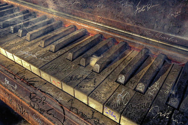 Rock Art Print featuring the photograph Rock Piano Fantasy by Mal Bray