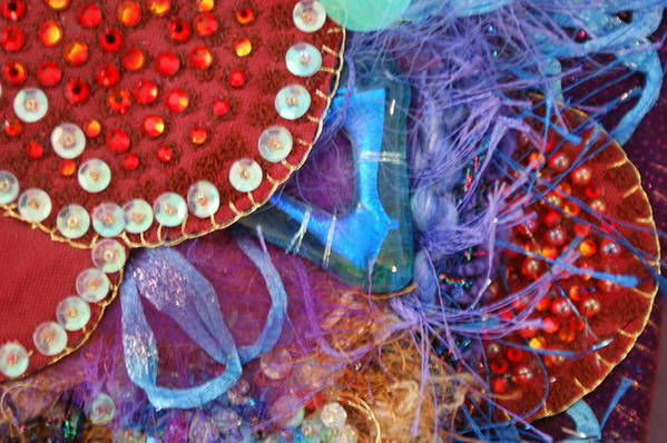 Art Print featuring the mixed media Ruby Slippers 7 by Judy Henninger