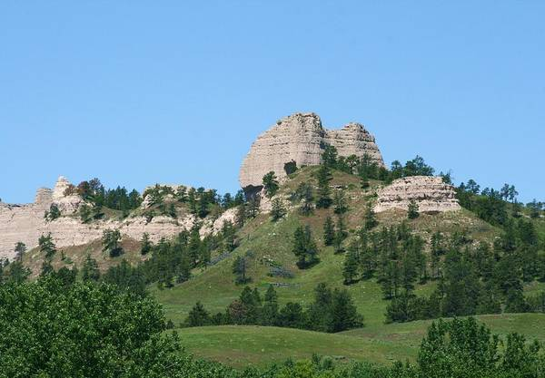 Saddle Rock Art Print featuring the painting Saddle Rock Butte by J W Kelly
