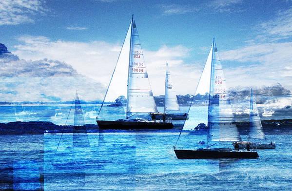 Boats Art Print featuring the photograph Sailboats by Matthew Robbins