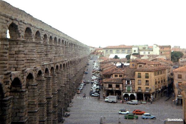 Segovia Art Print featuring the digital art Segovia Aquaduct by Al Blackford