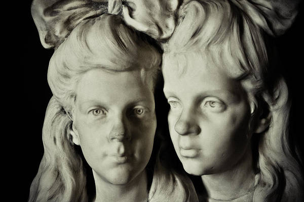 Sculpture Art Print featuring the photograph Sisters by Colleen Kammerer