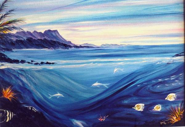 Islands Art Print featuring the painting Sokehs Dawn by Dina Holland